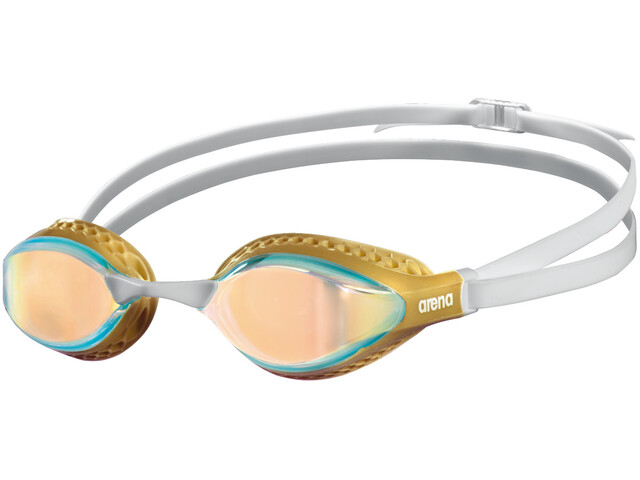 arena Airspeed Mirror Schwimmbrille yellow copper/gold/multi
